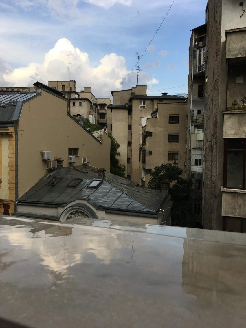 View from our apartment in Bucharest, Romania